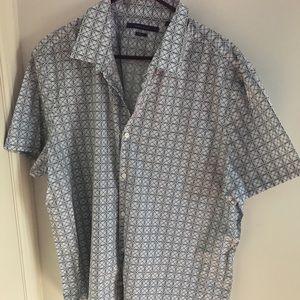 Geometric shape button down shirt
